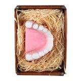 Lustige Apotheke handgemachte Seife in Form eines Gebisses mit Geschenkverpackung
